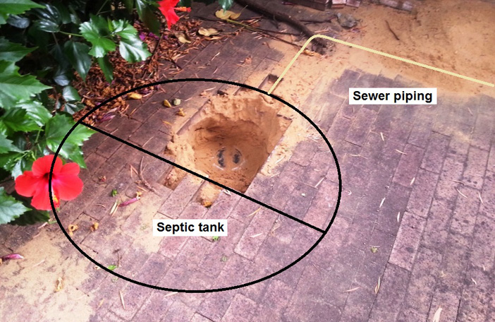 Finding the location of a septic tank system for decommissioning